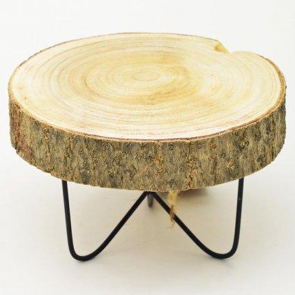 Mini stolík drevený 12x20x20cm