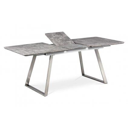 jedálenský stôl 160x90 cm, MDF beton, kov brúsená nerez