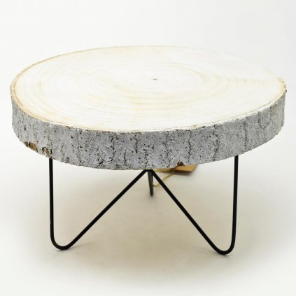 73040 Mini stolík drevený bledý 29x29x15cm