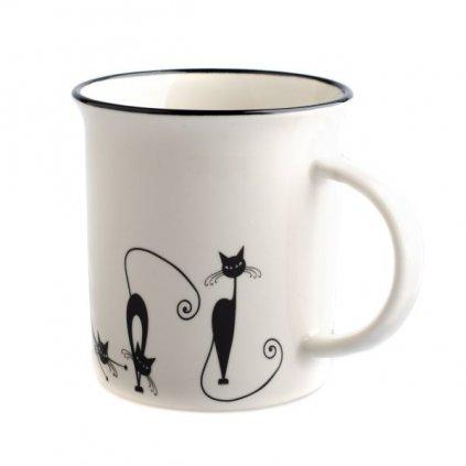 Hrnček porcelánový s mačkami 310ml