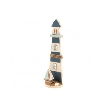 Maják  drevená dekorácia 25x7,5x5cm