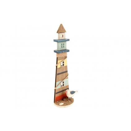 Maják, drevená dekorácia 36x12x6,5 cm