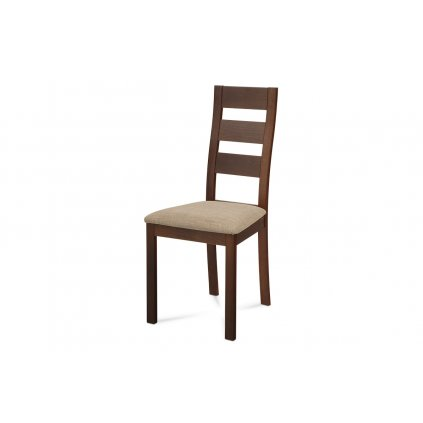 jedálenská stolička, orech/látka béžová