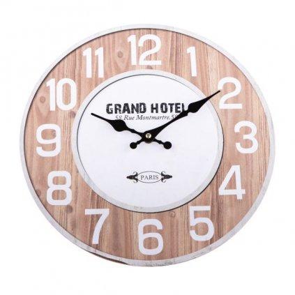 Drevené hodiny grand hotel 34 ×1×34 cm