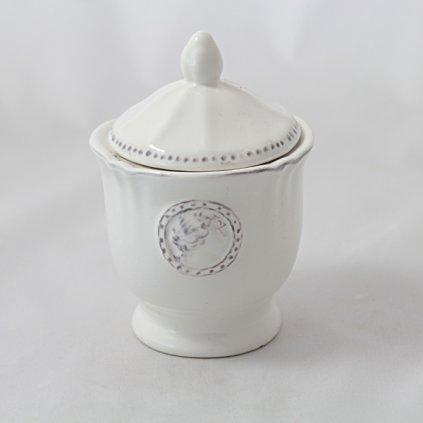 cukornička keramická biela 7,7×7,7×11,4cm