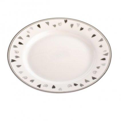 tanier so srdiečkami porcelánový 11,5×11,5×1,9cm