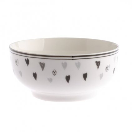 Porcelánová miska so srdiečkami 14×7×14cm