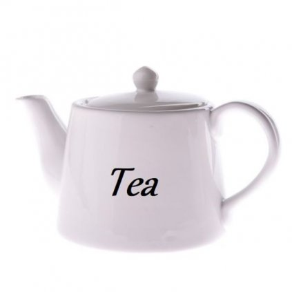 čajník keramicky biely s nápisom Tea 1000ml