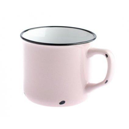 Porcelánový hrnček ružový,230ml