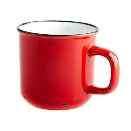 Porcelánový hrnček červený 9,8×9,1×9,8cm (440ml)