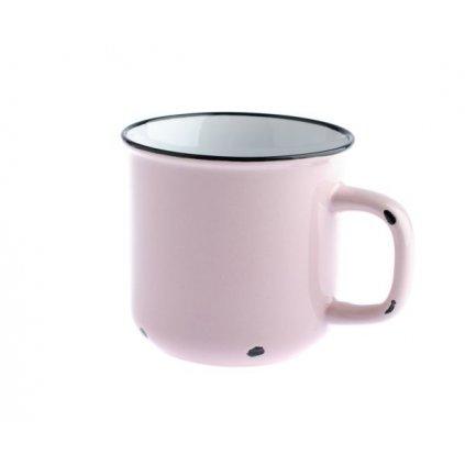 Porcelánový hrnček ružový,440ml