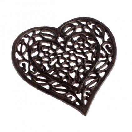 Liatinová podložka srdce 15,8×17×1,5cm