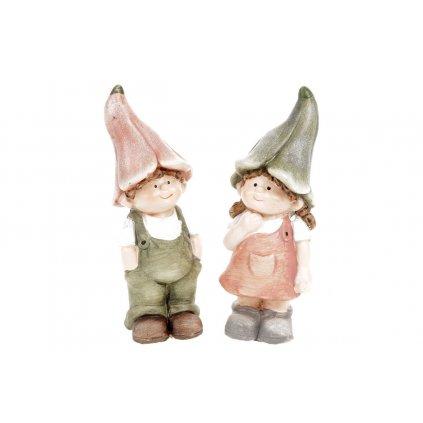 Zvonečkové deti z keramiky 7X6X19cm