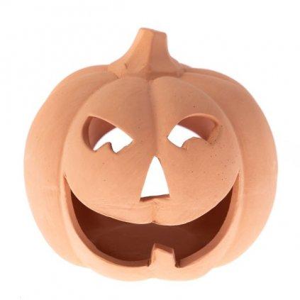 tekvica svietnik jesenná keramická dekorácia 15×14×15cm