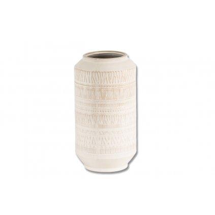 Váza keramická béžová 18.5x18.5x34.5cm