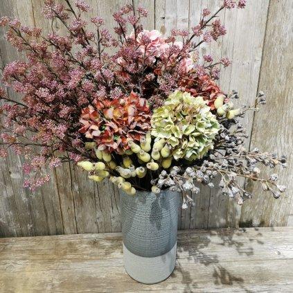 Váza keramická šedohnedá 20x20x41 cm