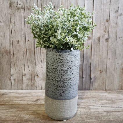 Váza keramická šedohnedá 12x12x23.5cm