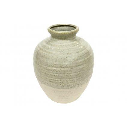 Váza keramická krémová 17*17*20cm