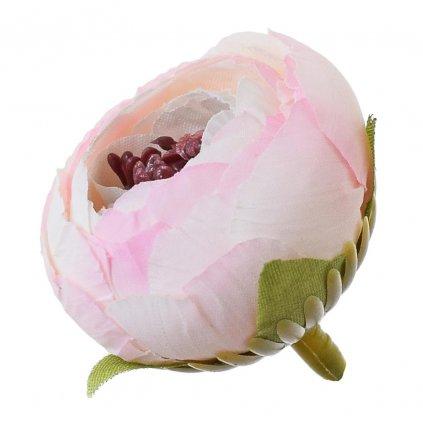 HLAVA RANUNCULUS smotanovo rúžová 3cm