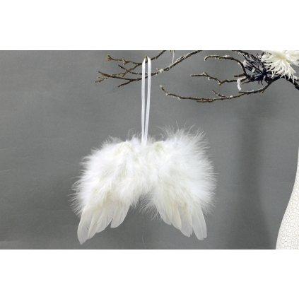 Anjelské krídla z peria, farba biela 18x16cm