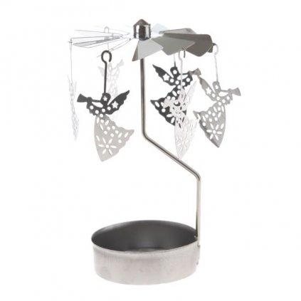 anjelské zvonenie svietnik na čajovú sviečku 9×12×9cm