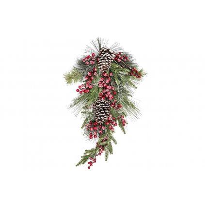 Vetvička umelá vianočná dekorácia 30x70x15cm