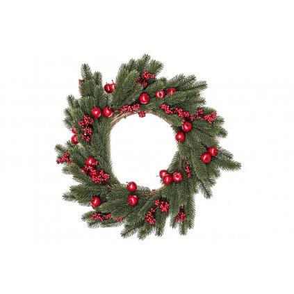 Vianočný veniec dekorácia červené bobule 50cm
