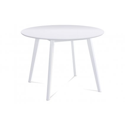 jedálenský stôl pr.106 cm, biela matná MDF doska, hrúbka 18mm