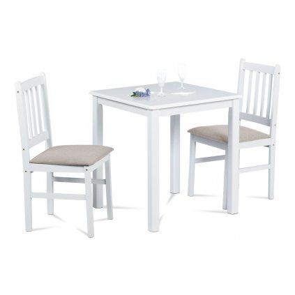 jedálenský set 1+2, biely, masív