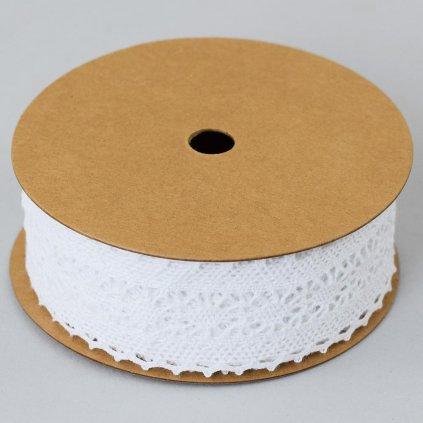 Stuha čipka natur biela 3,5cm x5y