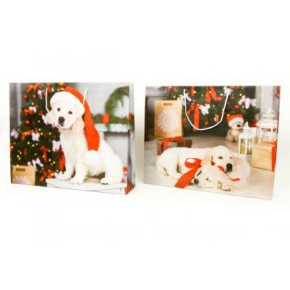 Papierová taška veľká XXL, vianočný motív 41x9,6x33cm