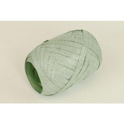 Stuha viazacia zelená glitter  0,5cm x 10m