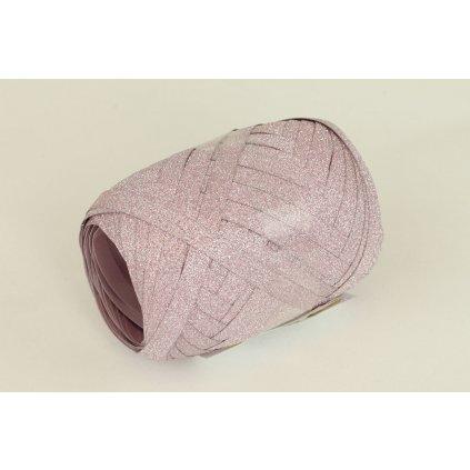 Stuha viazacia ružová glitter  0,5cm x 10m