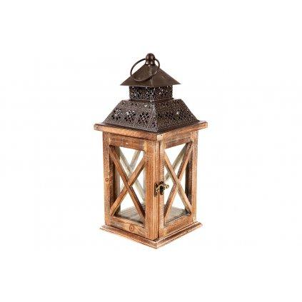 Lampáš drevený hnedý  16x36,5x15cm