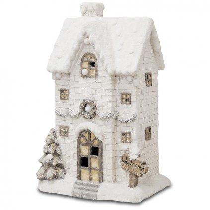 Ľadový domček hrajúci biely