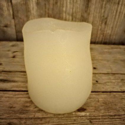 sviečka  s LED svetlom, farba krémová vosková pr.8x10cm