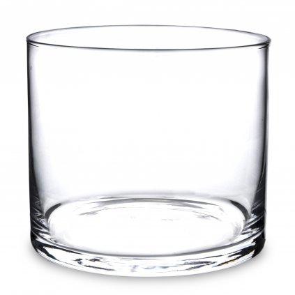 sklenená váza valec 12x14x14cm