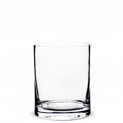 Sklenená váza valec 15x12x12cm