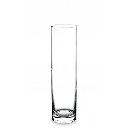 sklenená váza valec 30x8x8cm