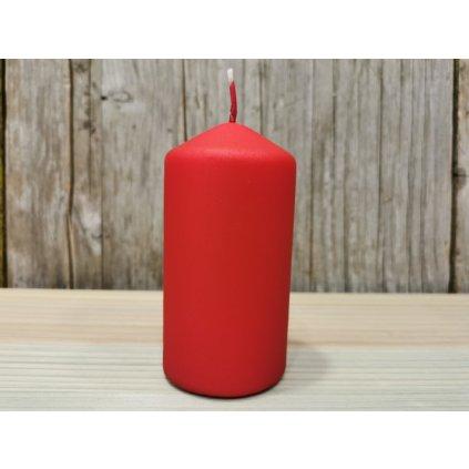 sviečka valec matná červená 6x12cm