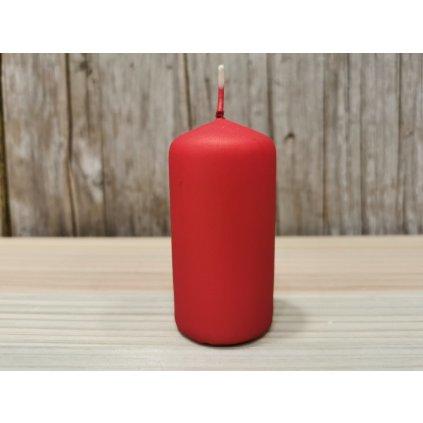 sviečka valec matná červená 4x8cm