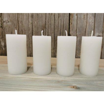 sviečka biela valec 5x10cm sadá 4ks