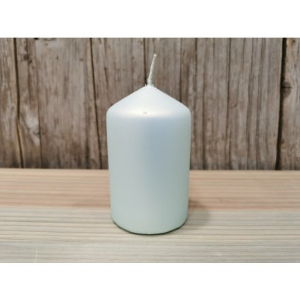 sviečka valec matná mentol 6x10cm