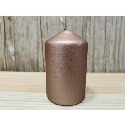 sviečka valec matná hnedá 6x10cm