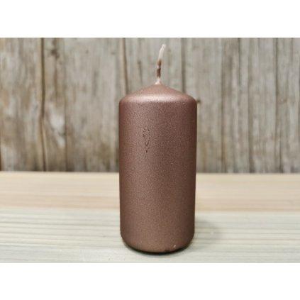sviečka valec matná hnedá 4x8cm