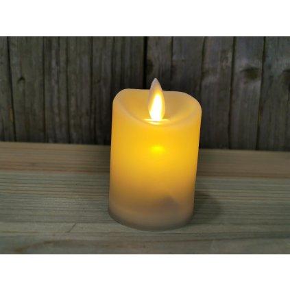 led sviečka s pohyblivým plameňom smotanová 5x7cm