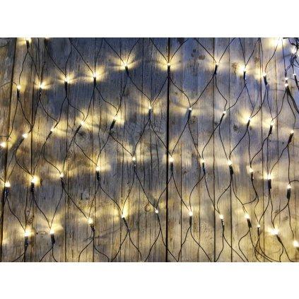 vianočné osvetlenie sieť 160 led tepla biela 1x2m