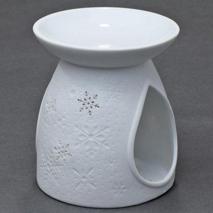 AROMA LAMPA porcelán  Snehová VLOČKA biela