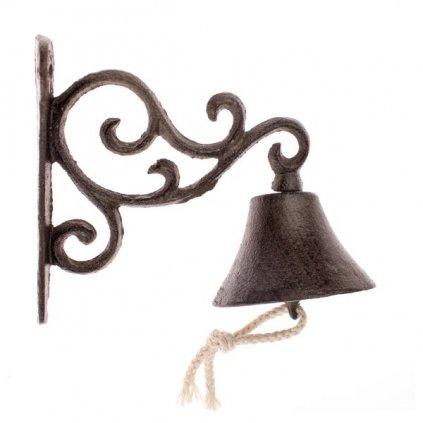 Liatinový zvonček hnedý 15,5×13,5×8cm