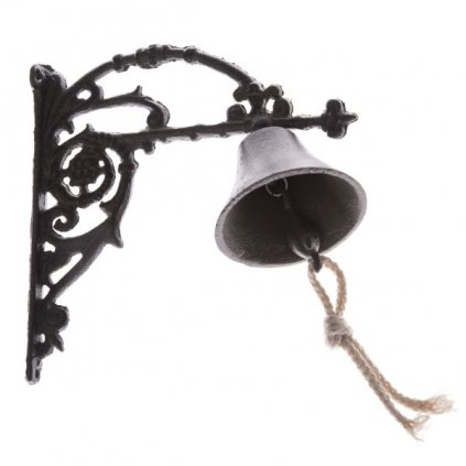 Liatinový zvonček hnedý 18,3×19×8cm